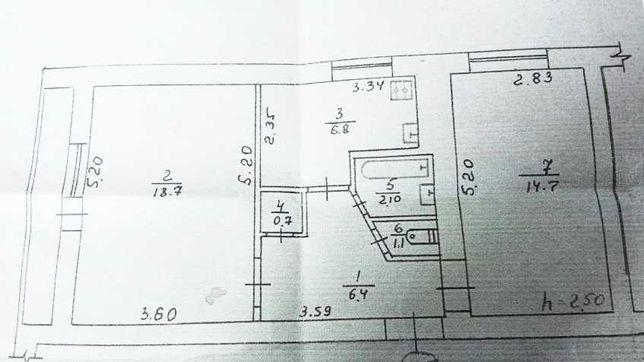 Двохкімнатна квартира на Половках