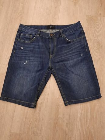 Spodenki Reserved, 2 pary, rozmiar 33 - jeans oraz materiał