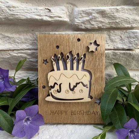 Деревянная открытка, подарок, подарунок
