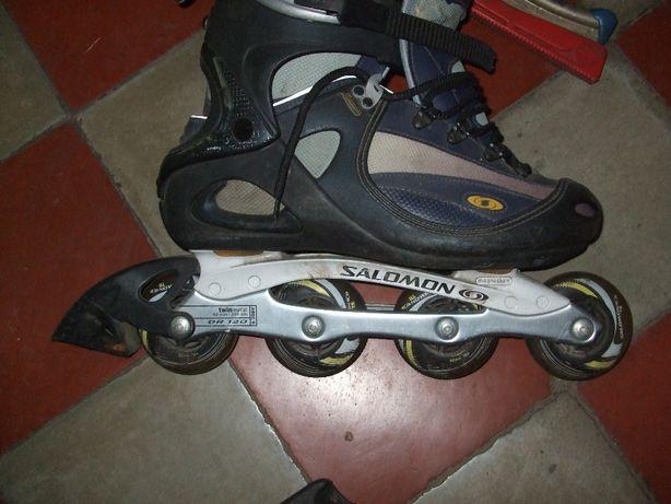 Buty -hokejowe rozmiar 29+Rollerblades-lyzworolki SALOMON-ROZMIAR 11