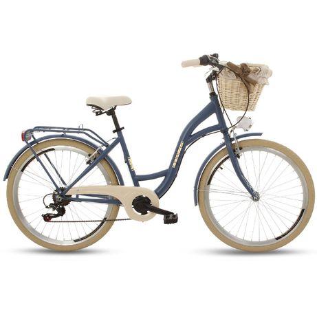 """NOWY rower miejski/damski Goetze Mood 26"""" 7 biegów shimano GRANATOWY"""