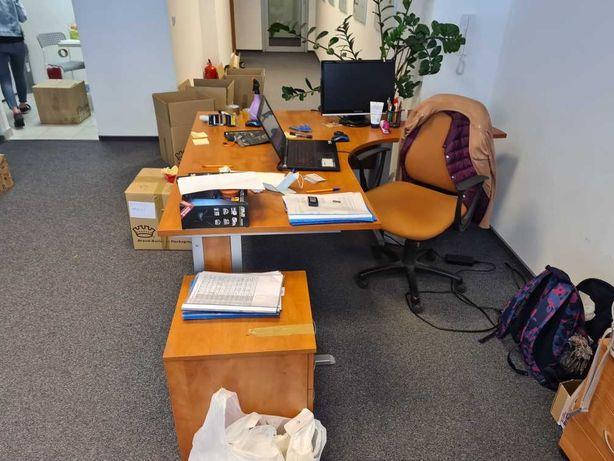 Biurko sekretarskie z kontenerem