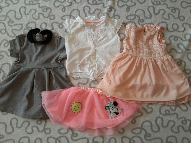 Sukienki, bluzka, spódniczka dziewczęca 74-86