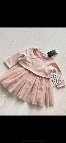 Next piekna sukienka 6-9 m NOWA