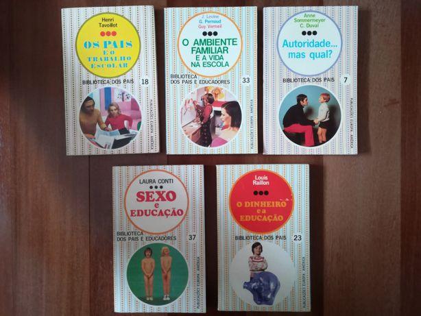 Lote de livros antigos /vintage sobre Educação