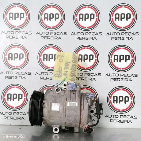 Compressor ar condicionado Vw Polo 9N, Ibiza 6L, Skoda Fabia 1.4 TDI ref 6Q0820803Q, 6Q0820808 G .