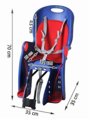Велокресло детское Дитяче велокрісло Сидіння на ровер Нове синьо черв