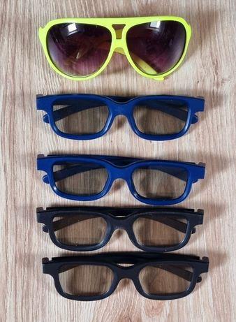 Zestaw okulary 3d do oglądania filmów 3d I jedne przeciwsłoneczne