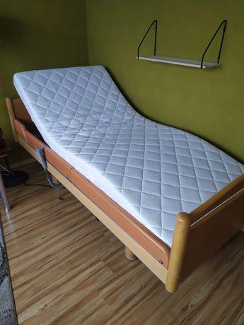 Łóżko rehabilitacyjne sterowane z pilota jezdne na siłowniku +materac