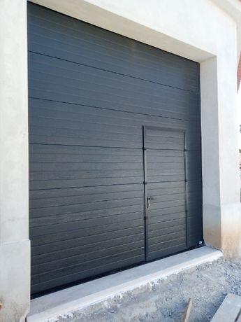 Portão seccionado e fola para Garagem ou armazém
