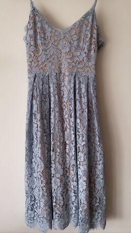 Błękitna sukienka z hm