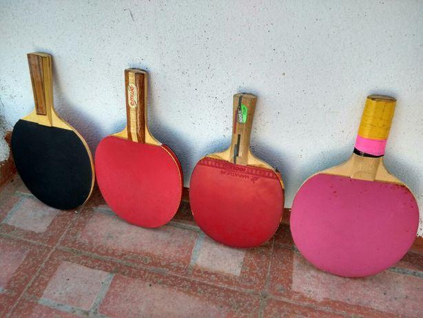 4 raquetes ping pong