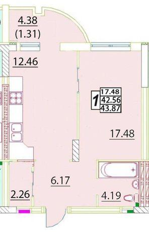 Продам 1 комнатную квартиру в новом доме на Черемушках