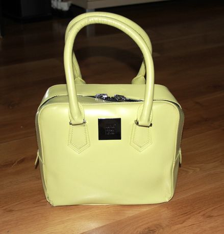 SIMPLE skórzana skóra limonkowa kuferek żółta torebka liu jo bizuu