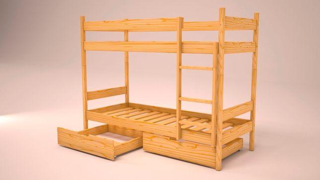 łóżko piętrowe 200x80 z szufladami