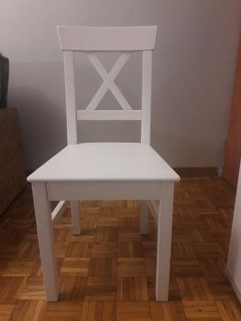 Krzesło białe krzyżak salon jadalnia kuchnia do własnego złożenia