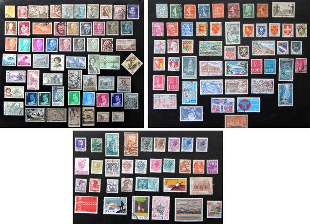 Lote 141 SELOS 1900 a 1981, Espanha, França e Itália (e venda p. país)