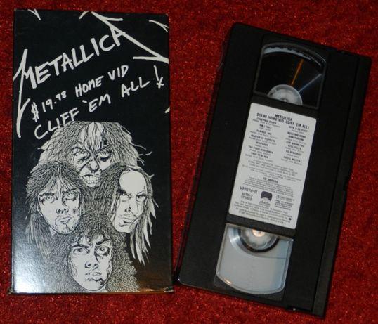 Metallica $19,98 Home Vid Cliff Em All Vhs 1987