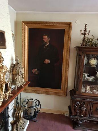 XIX w Portret Szlachcica Olej na Płótnie  w skali 1:1  100% ORGINAŁ !!