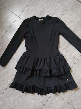 Wysyłka gratis! Piękna sukienka falbana M czarna.