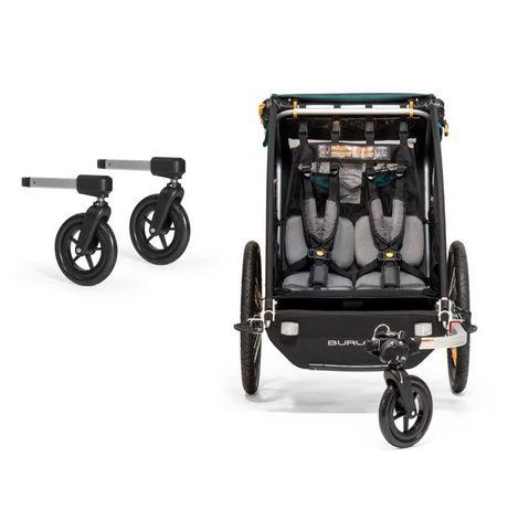 od ręki przyczepka rowerowa Burley Encore X z kółkami spacerowymi