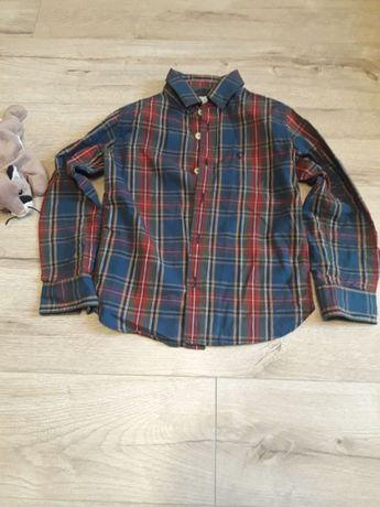 Рубашка на мальчика 6 л. с длинным рукавом стильная сорочка хлопчика