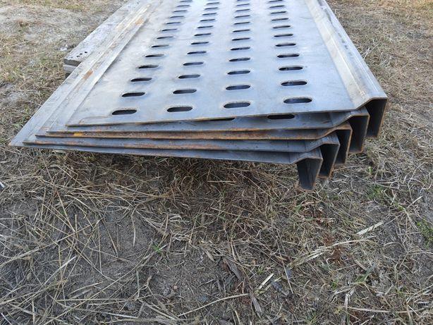 Panel stalowy lohr blacha perforowana samonośna czarna 3mm