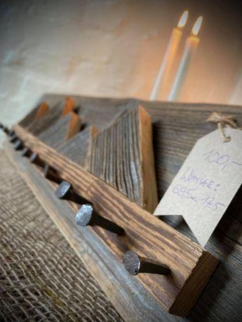 Wieszak z drewna Drewniany wieszak Wooden hanger Vintage 69,5x17,5 cm
