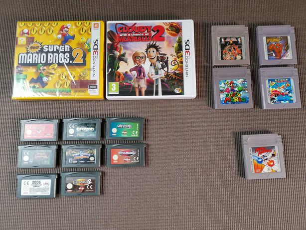 Jogos Nintendo 3DS 2DS Gameboy Color Advance Mario Power Rangers