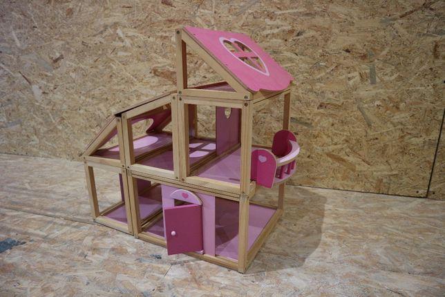 drewniany modułowy domek dla lalek