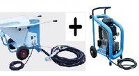 Aluguer Máquina de projetar reboco + compressor, a partir de