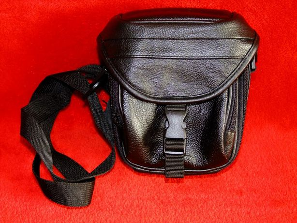 Nowa skórzana torebka na ramię na aparat fotograficzny