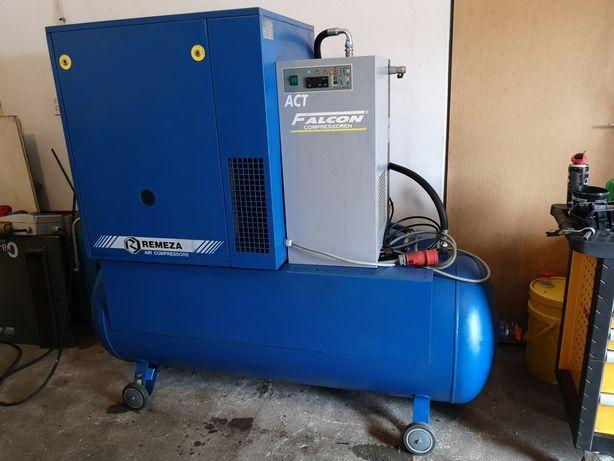 Kompresor srubowy 7,5 kw zbiornik 500l z osuszaczem