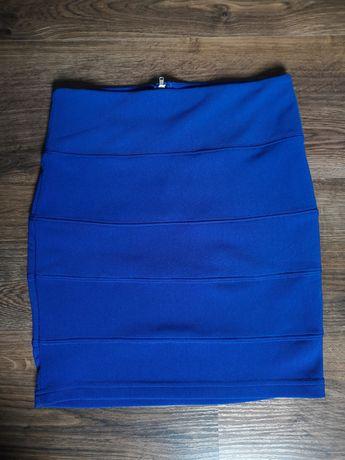 Spódnica mini niebieska