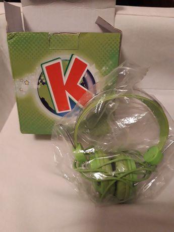 Kubuś zielone słuchawki