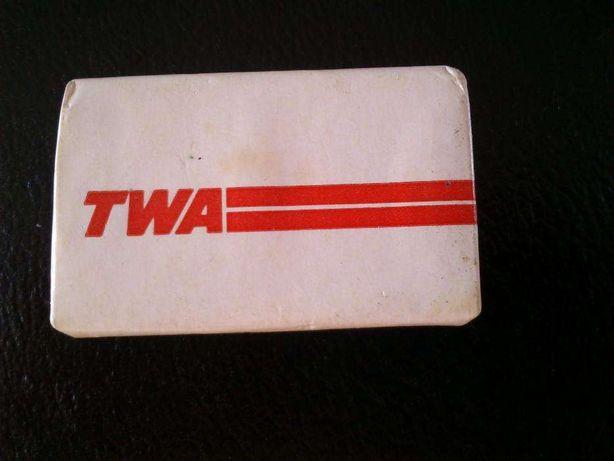 Aviação comercial, sabonete da TWA, década 80, por estrear