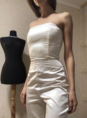 Новое!! Свадебное платье трансформер свадебный комбинезон наряд