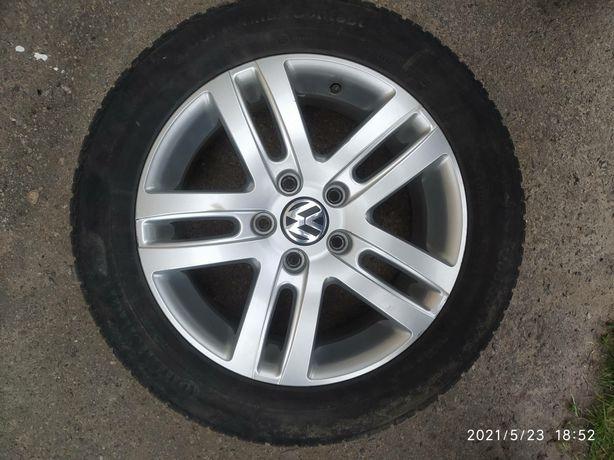 Легкосплавный титановый диск 5х112 R16 VW, Audi, Skoda, Jetta Passat