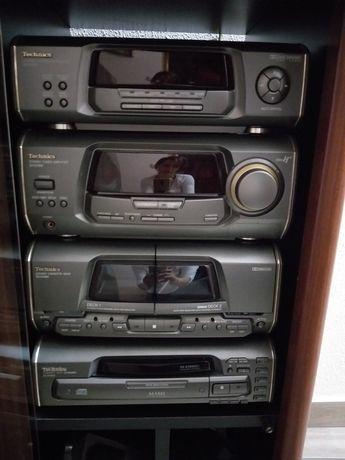 Hi-Fi Technics de 5 CD'S +Radio+Cassetes+ Móvel