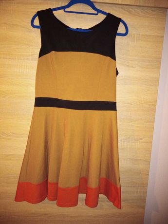 Sprzedam sukienkę w jesiennych barwach 40 42