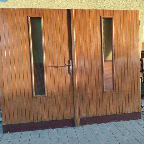 Drzwi garażowe drewniane UŻYWANE