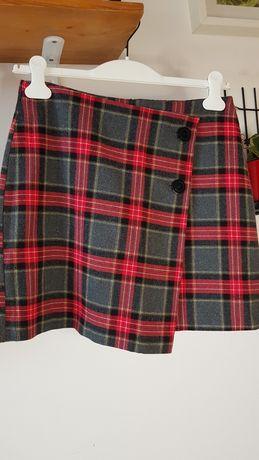 Spodnica ciepła mini w kratę H&M