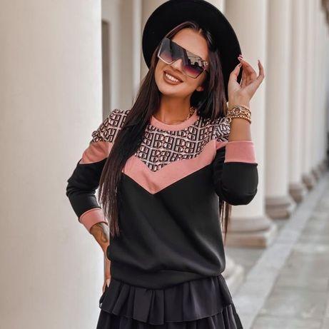Bluza Czarno-różowa UNIWERSALNY