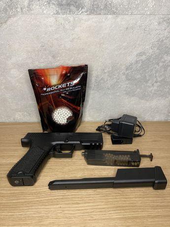 Страйкбольный пистолет ERGO-FA CYMA GLOCK 18 CM.127 AEP