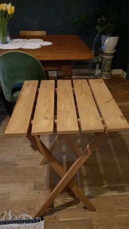 Stolik drewniany składany na balkon