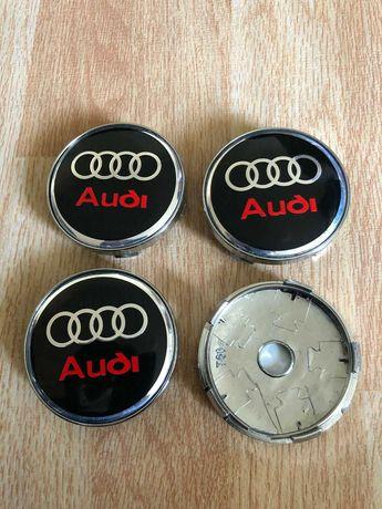 Centros/tampas de jante completos Audi