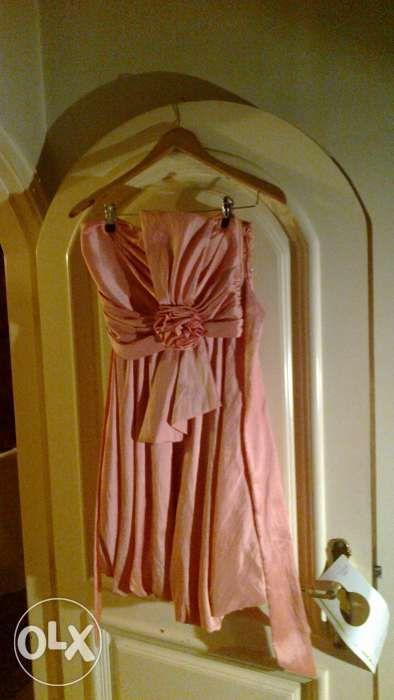vestido cor de rosa cerimonia com laço atrás Porto - imagem 1