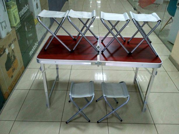 Стол + 6 стульев УСИЛЕННЫЙ КВАДРАТНЫЕ ножки