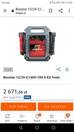 Urządzenie rozruchowe KS Tools Booster 12/24 V,1400