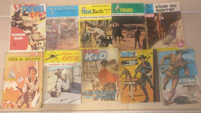 Lote 66 livros de BD antigos diversos